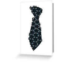 Dot Layer Tie Greeting Card