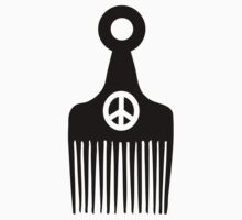Afro Hair Peace by forgottentongue