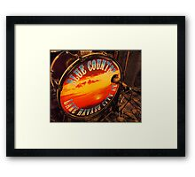 Blue Country Band Framed Print