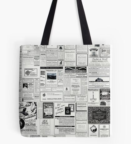 Collage Of Vintage Advertising Tote Bag