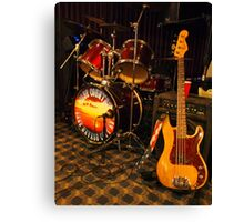 Drums & Guitar Canvas Print