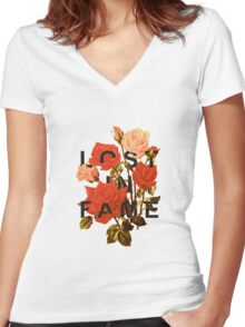 Lost In Fame Women's Fitted V-Neck T-Shirt