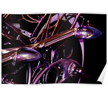 Exhaust Pipes V-Twin Motorcycle Poster