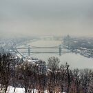 Budapest in the snowy fog by NeilAlderney
