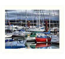 Fleetwood Harbour Marina Art Print