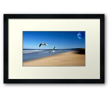 I'm not normally one to *make* a scene.... Framed Print