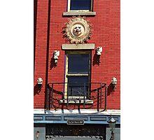 Gargoyles and Balcony, Auburn, New York Photographic Print