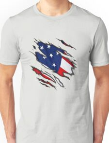 Show Your True Colors: American Flag Unisex T-Shirt