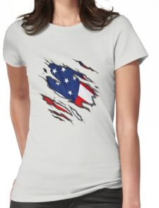 Show Your True Colors: American Flag Womens Fitted T-Shirt