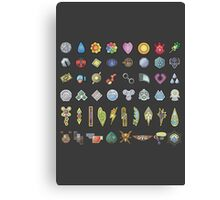 All The Gym Badges! Canvas Print