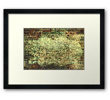 Wired Binary Code edition 6 Framed Print