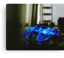 Blue Neon Controller  Canvas Print