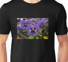 Blue Pansies Unisex T-Shirt