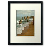 Patterns,Twelve Apostles Great Ocean Rd Framed Print