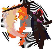 Roy (Smash 4, Black & Purple) - Sunset Shores by Kevandre