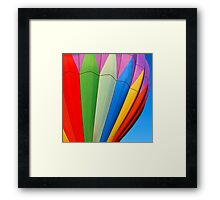 Close Up Hot Air Balloon Framed Print
