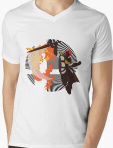 Roy (Smash 4, White & Gold) - Sunset Shores Mens V-Neck T-Shirt