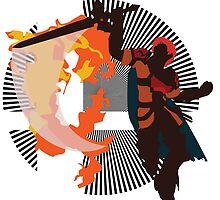 Roy (Smash 4, Red & Orange) - Sunset Shores by Kevandre