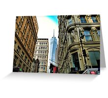 One world trade view Greeting Card