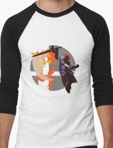 Roy (Smash 4, Lavender & Violet) - Sunset Shores Men's Baseball ¾ T-Shirt