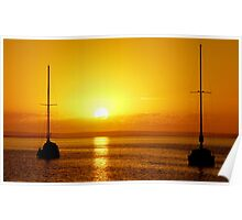 Moored Yachts Port Lincoln Eyre Peninsula Australia Poster