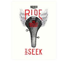 Ride & Seek Art Print