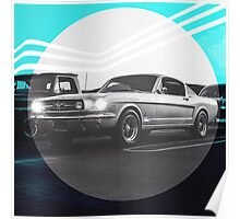 Fastback Mustang Poster