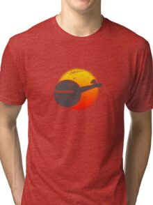 USS A One Space Discovery Odyssey Approach 2001 Light Tri-blend T-Shirt