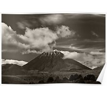 Mt. Ngauruhoe - New Zealand ... aka Mt. Doom - Middle Earth Poster