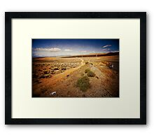Washington State desert lands Framed Print