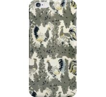 Monochromatic Abstract Chicken Pattern Fabric  iPhone Case/Skin