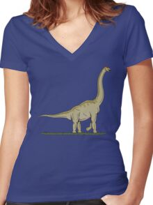 Brachiosaurus Women's Fitted V-Neck T-Shirt