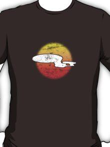 Galaxy D Class Starship 1701 - dark T-Shirt