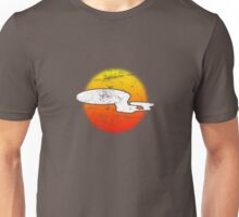 Galaxy D Class Starship 1701 - dark Unisex T-Shirt