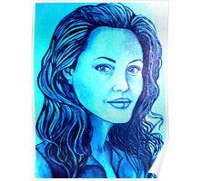 Angelina Jolie celebrity portrait Poster