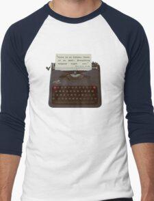 'Everything happens now', Fringe Quote Men's Baseball ¾ T-Shirt