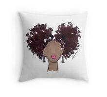 How To Be Curly Two Throw Pillow