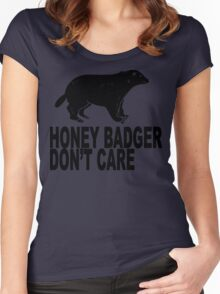 Honey Badgers Don't Care  Women's Fitted Scoop T-Shirt
