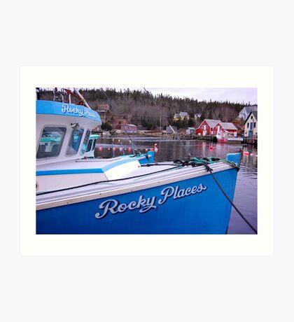 Rocky Places Nova Scotia Canada Art Print