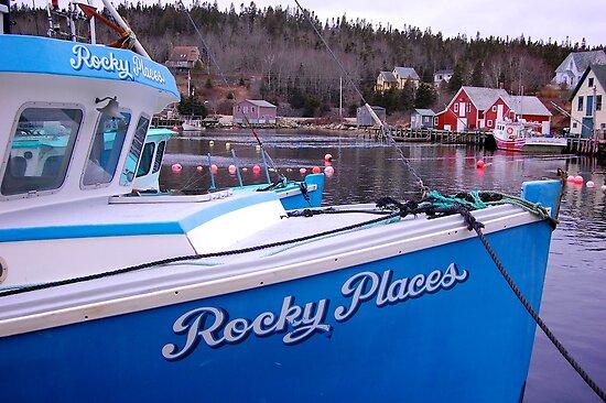 Rocky Places Nova Scotia Canada by Roxane Bay