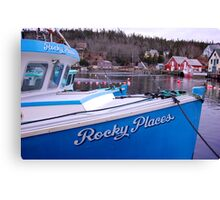 Rocky Places Nova Scotia Canada Canvas Print
