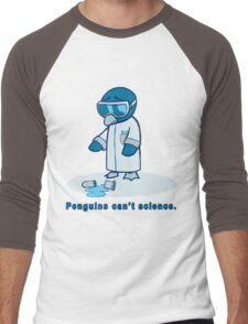 Penguins can't science. Men's Baseball ¾ T-Shirt