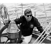 President John Kennedy Sailing Photographic Print