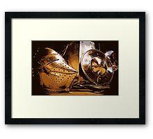 Shiny Knight Armour! Framed Print