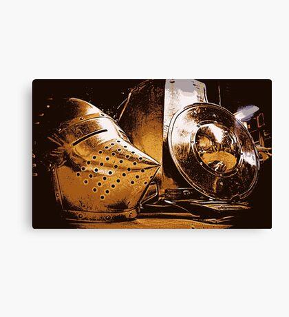 Shiny Knight Armour! Canvas Print