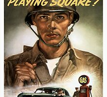 Are You Playing Square -- World War Two Print by warishellstore