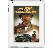 Are You Playing Square -- World War Two Print iPad Case/Skin