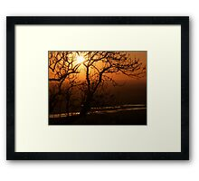 Romney Marsh Sunset Framed Print