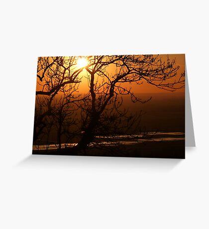 Romney Marsh Sunset Greeting Card