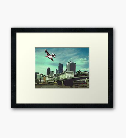The reds are taking over the city! Framed Print